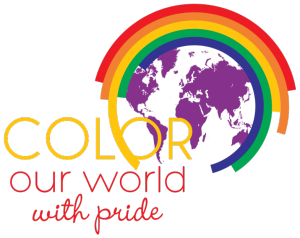 Color Our World - Spencer Pride 2015 logo