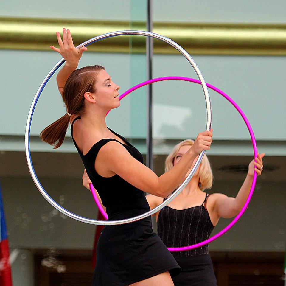Photo of Carrie hooping.