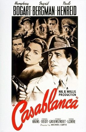 Movie poster for Casablanca.