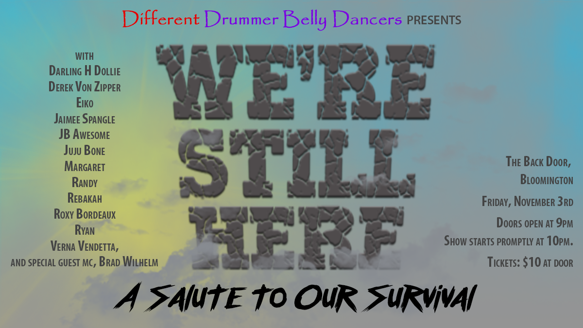 Forbidden Belly Dance & Variety Show - We're Still Here - 2017 logo