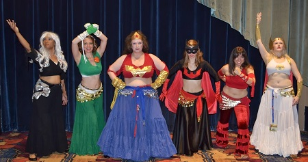 DDBD in their super hero costumes before Gen Con Costume Contest 2013.